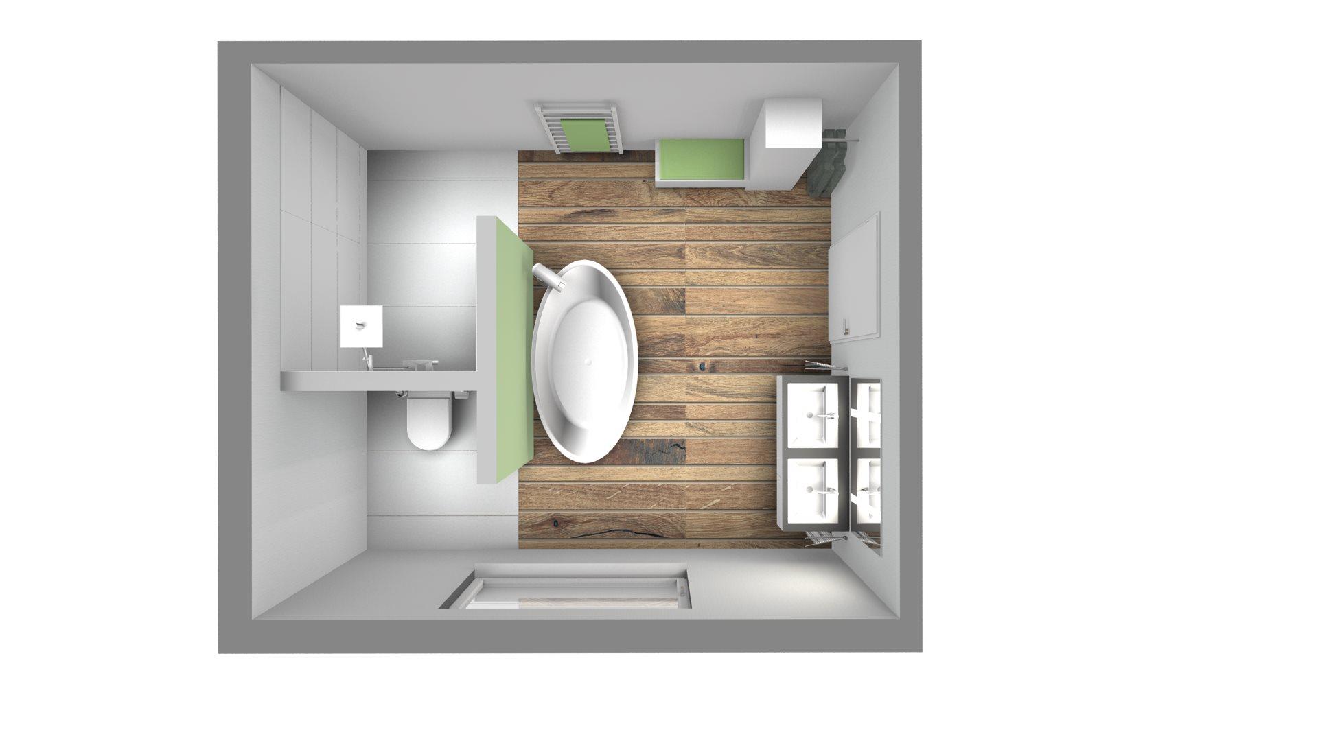 Badezimmer 3X3M