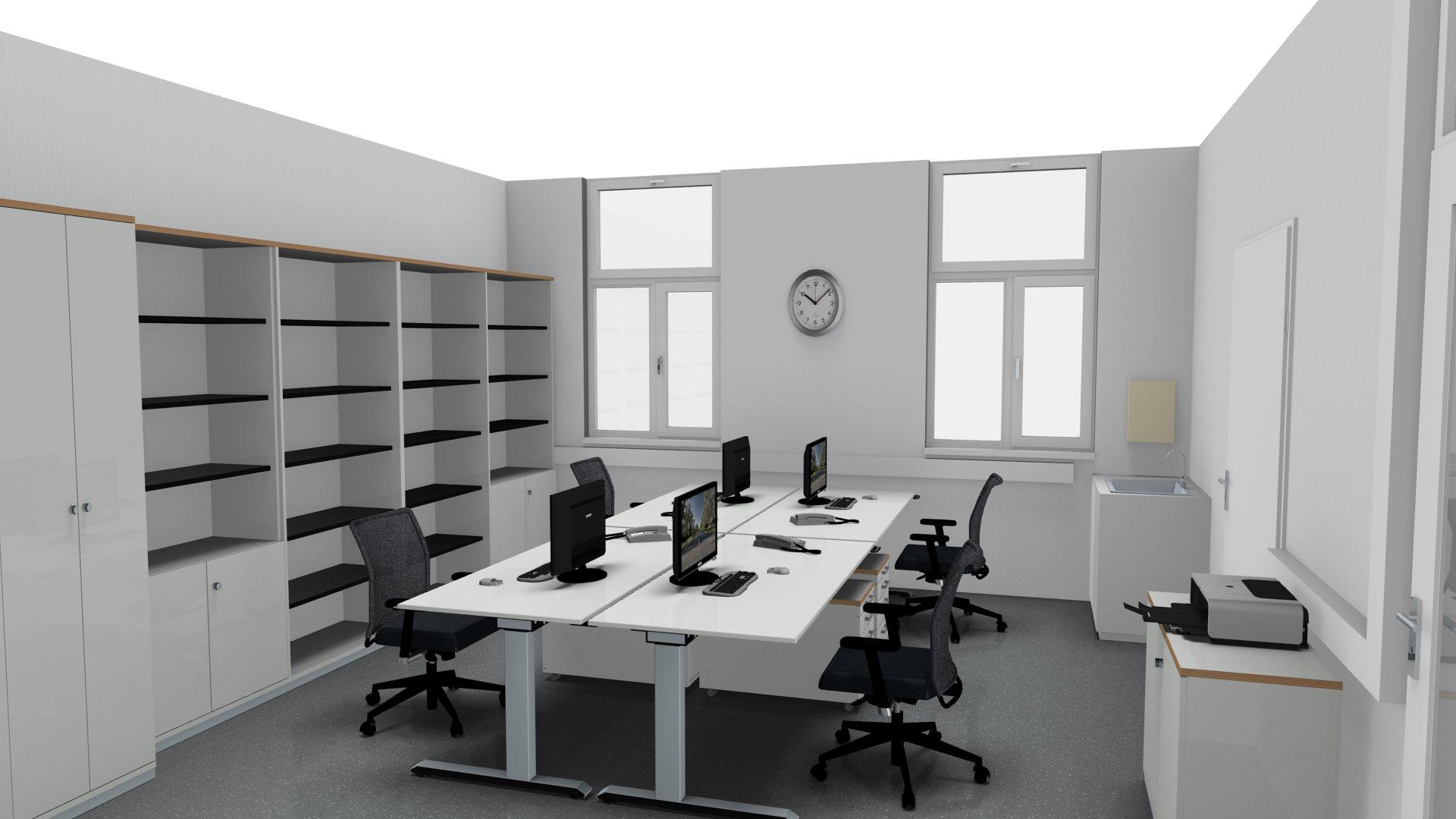 Büroeinrichtung planen  actica GmbH – actica planen & einrichten » 3D-Planung Büroeinrichtung